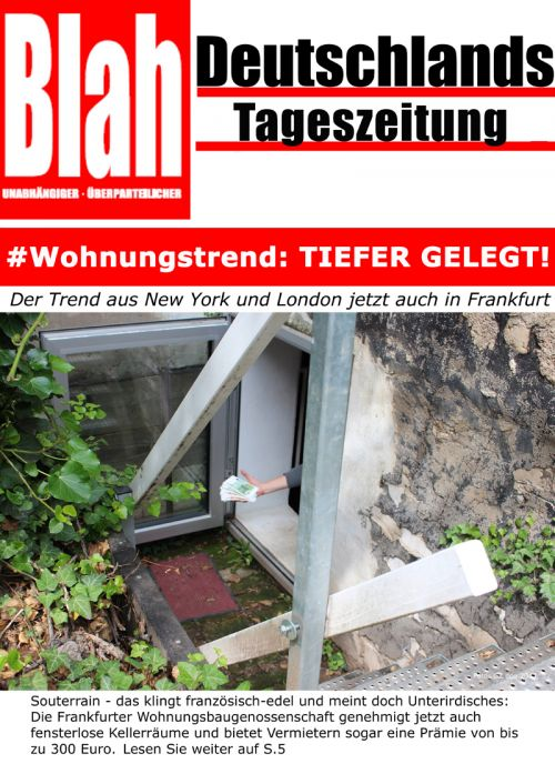 # Wohnungstrend: TIEFER GELEGT!
